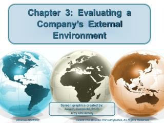 Chapter  3:  Evaluating  a  Company's  External  Environment