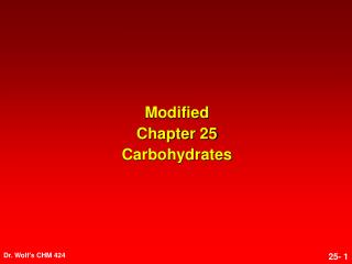 Modified Chapter 25 Carbohydrates