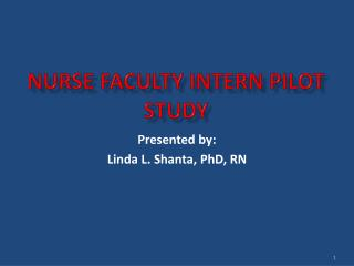 NURSE FACULTY INTERN PILOT STUDY