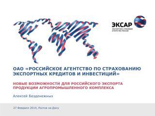 ОАО «Российское агентство по страхованию экспортных кредитов и инвестиций»