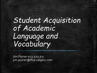 Robust Vocabulary