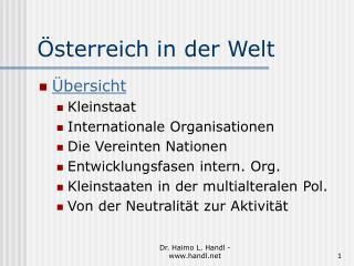 Österreich in der Welt
