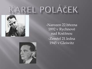 Karel  P oláček