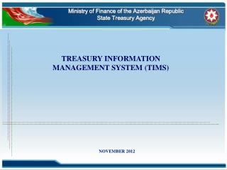 Ministry of Finance of the Azerbaijan Republic  State Treasury Agency
