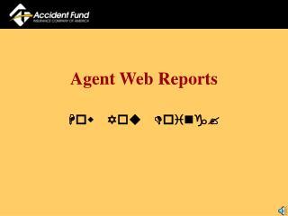 Agent Web Reports