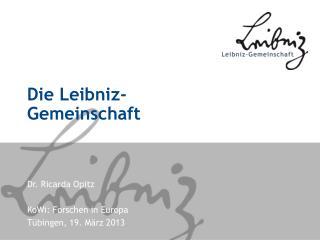 Die Leibniz-Gemeinschaft