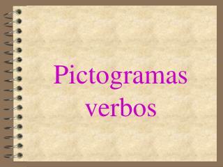 Pictogramas verbos