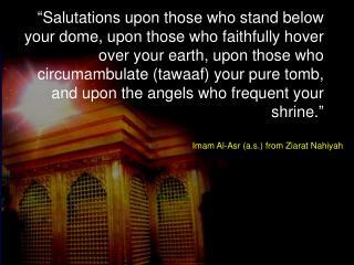 Imam Al-Asr (a.s.) from Ziarat Nahiyah