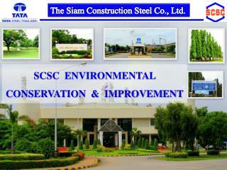 SCSC  ENVIRONMENTAL   CONSERVATION  &  IMPROVEMENT