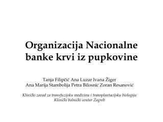 Organizacija Nacionalne banke krvi iz pupkovine
