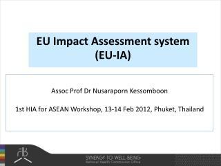 EU Impact Assessment system (EU-IA)