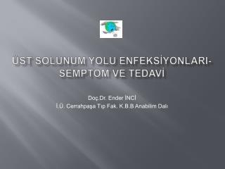 ÜST SOLUNUM YOLU ENFEKSİYONLARI- SEMPTOm  ve  TEDAVİ