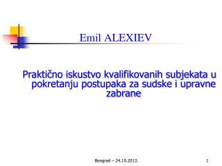 Emil ALEXIEV