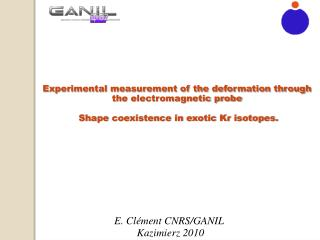 Experimental measurement of the deformation through the electromagnetic probe