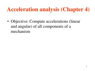Acceleration analysis Chapter 4