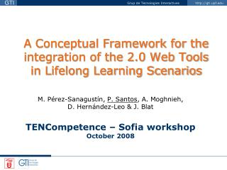 A Conceptual Framework for the integration of the 2.0 Web Tools in Lifelong Learning Scenarios