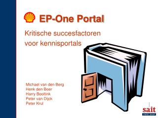 EP-One Portal
