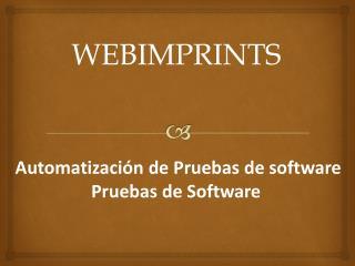 Automatización de Pruebas de software