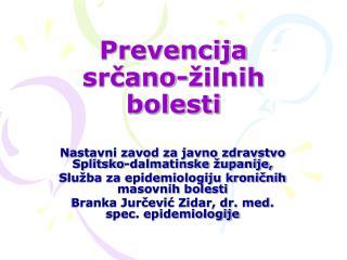 Prevencija srčano-žilnih bolesti