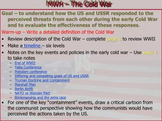 MWH   The Cold War