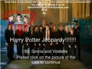 Harry Potter Jeopardy!!!!!!!