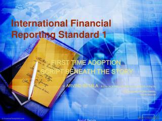 International Financial Reporting Standard 1