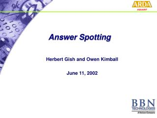 Answer Spotting