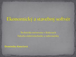 Ekonomick� a stavebn� softv�r