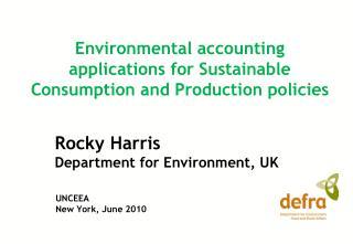 Rocky Harris Department for Environment, UK