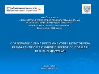 Želimir Pekaš HRVATSKE VODE