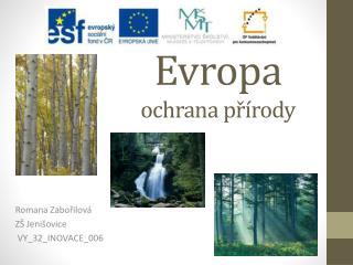 Evropa ochrana přírody