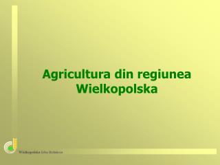 Agricultura din regiunea  Wielkopolsk a