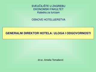 OSNOVE HOTELIJERSTVA