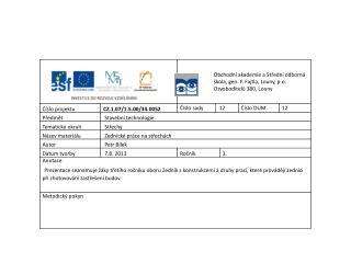Z EDNICKÉ KONSTRUKCE  A PRÁCE NA STŘECHÁCH Práce na sklonitých střechách: Komíny a opravy komínů