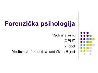 Forenzička psihologija