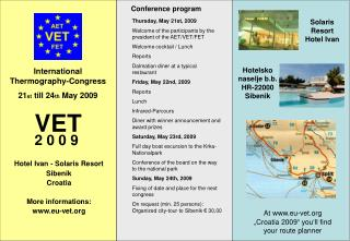 International Thermography-Congress  21 st  till 24 th  May 2009