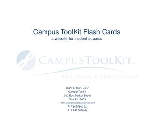 Campus ToolKit Flash Cards a website for student success