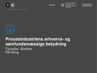 Procesindustriens erhvervs- og  samfundsmæssige betydning