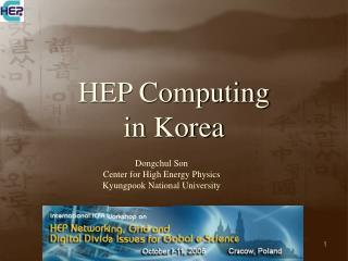HEP Computing  in Korea