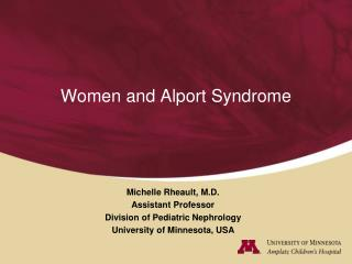Women and Alport Syndrome