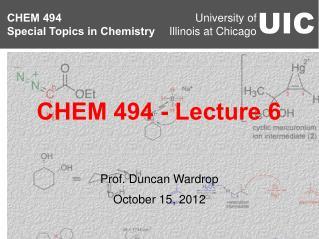 Prof. Duncan Wardrop October 15, 2012