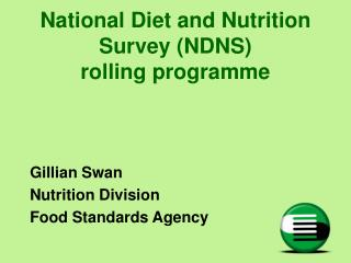 National Diet and Nutrition Survey NDNS  rolling programme