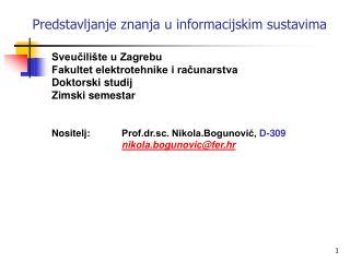 Predstavljanje znanja u informacijskim sustavima