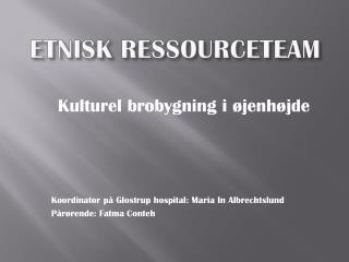 ETNISK RESSOURCETEAM