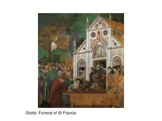 Giotto: Funeral of St Francis