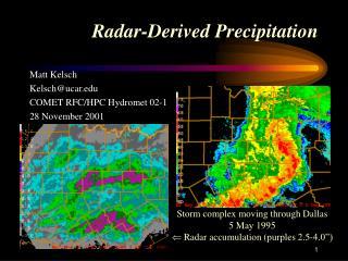 Radar-Derived Precipitation