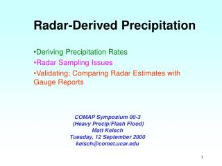 Radar-Derived Precipitation