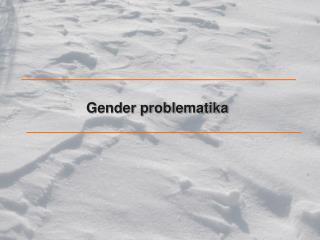 Gender problematika