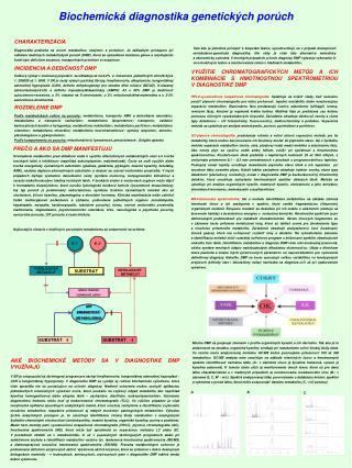 Biochemická diagnostika genetických porúch