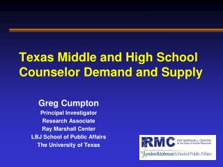 Texas Middle and High School Counselor Demand and Supply